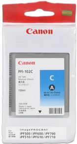 CARTUCCIA CANON PFI-102 CIANO IPF500/600/700 130ml - 0896B001AA