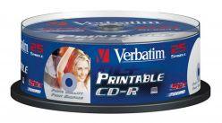 Supporto CD-R VERBATIM 25PK stampabile torta - 43.439