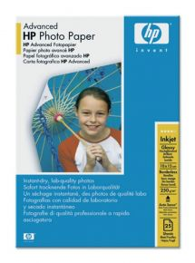 CARTA FOTOGRAFICA HP ADVANCED GLOSSY PHOTO 10x15, 25PZ, 250g/m2 - Q8691A