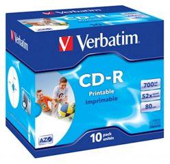 CD-R VERBATIM 10PK PRINTABLE CONFEZIONE LARGE 43325