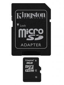 SDHC Kingston micro 8GB C4 Speed Class 4, adattatore SD - SDC4 / 8GB