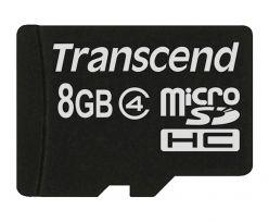 SDHC Transcend MICRO 8GB C4, SD 2.0, Speed Class 4 - TS8GUSDC4