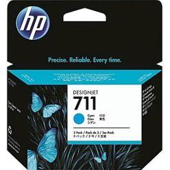 CARTUCCIA HP CYAN 711 DESIGNJET T520,T120 29ml; 3 PACK - CZ134A