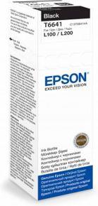 CARTUCCIA EPSON NERO BOTTIGLIETTA L110, L210, L300, L310, L355, L382, L550, L565, L1300, L3050, 70ml - C13T66414A