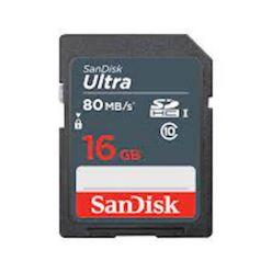 SDHC SANDISK 16GB ULTRA 80MB/s