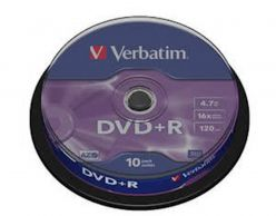 Supporti DVD + R VERBATIM 10PK torta - 43.498