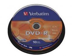 Supporti DVD-R 10PK VERBATIM torta - 43.523