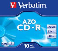 Supporto CD-R VERBATIM 10PK ampio pacchetto - 43327