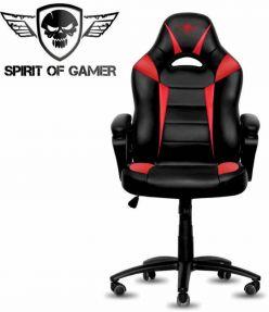 SEDIA GAMING SPIRIT OF GAMER FIGHTER NERO/ROSSO SOG-GCFRE