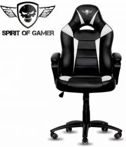 sedia Gaming Spirito di gamer FIGHTER bianco e nero - la SOG-GCFWT