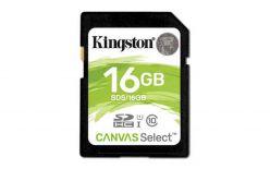 SDHC 16GB KINGSTON CANVAS SELEZIONE 80 / 10MB / s di velocità UHS-I Classe 1 (U1) - SDS / 16GB
