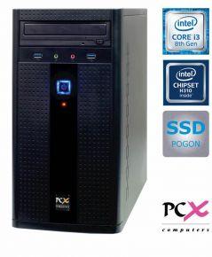 Desktop PC PCX ESAME G2830 (i3-8100 / 8GB / 240GB SSD / HD630) - PCX ESAME G2830