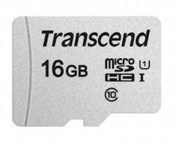 SDHC Transcend MICRO 16GB 300S, 95 / 45MB / s, C10, UHS-I Velocità Classe 1 (U1) - TS16GUSD300S