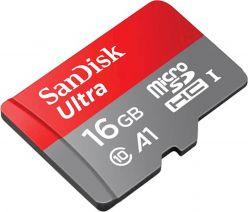 SDHC SANDISK MICRO 16GB ULTRA MOBILE, 98 MB / sec, UHS-I C10, A1, adattatore - SDSQUAR-016G-GN6MA
