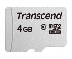 SDHC Transcend MICRO 4GB 300S, 95 / 45MB / s, C10, UHS-I Velocità Classe 1 (U1) - TS4GUSD300S