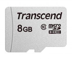 SDHC Transcend MICRO 8GB 300S, 95 / 45MB / s, C10, UHS-I Velocità Classe 1 (U1) - TS8GUSD300S