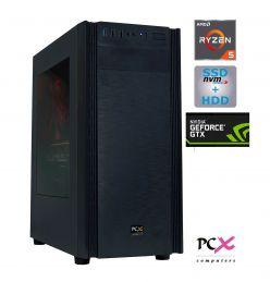 Desktop PC PCX EXTIAN XA5 AMD R5 2600 / 8GB / 256GB SSD / HDD 1Tb / GTX1650-4GB - PCX EXTIAN XA5