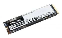 SSD Kingston M.2 PCIe NVMe 500GB KC2000, 3000/2000 MB/s, PCIe Gen 3 x4, 3D TLC NAND - SKC2000M8/500G