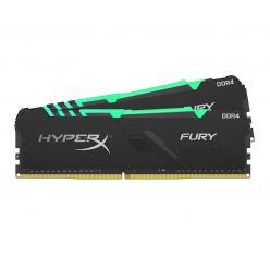 RAM DDR4 16GB PC3200 HX FURY BLACK RGB, kit 2x8 GB, CL16, 1Rx8, DIMM - HX432C16FB3AK2/16