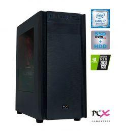 DESKTOP PCX EXTIAN i7-9700F/16GB/SSD500GB/2TB/RTX2060-6GB PCX EXTIAN GX6.1