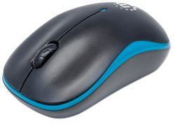 MOUSE WIRELESS OTTICCO MANHATTAN BLU/NERO USB, 1000 dpi, 3-TASTI 179416