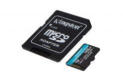 SDXC KINGSTON MICRO 128 GB CANVAS GO PLUS, 170/90 MB / s, C10, UHS-I, U3, V30, A2, ADATTATORE - SDCG3 / 128 GB