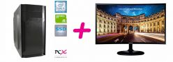 BUNDEL COMPUTER PCX EXAM i3-9100F/8GB/SSD 480GB/NV1030 2GB + MONTOR SAMSUNG GAMING 1.39