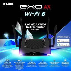 ROUTER AC WIRELESS DLINK DIR-X1560 Wi-Fi 6 - DIR-X1560