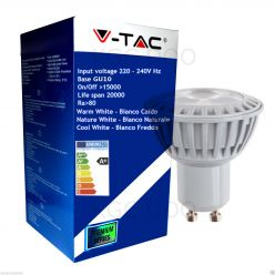 LAMPADINA LED V-Tac 5W =50W FARETTO SPOTLIGHT GU10