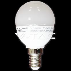 LAMPADINA LED V-Tac E14 6W=40W MINIGLOBO P45 VT-1880