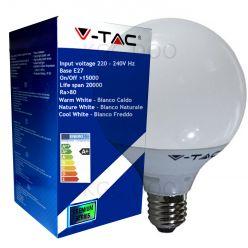 LAMPADINA LED V-Tac E27 13 WATT = 75 WATT GLOBO G120