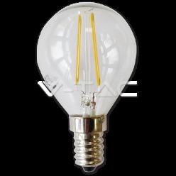 LAMPADINA LED V-Tac E14 2W=20W MINIGLOBO P45 FILAMENTO VT-1896
