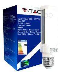 LAMPADINA LED V-Tac E27 6 WATT = 60 WATT TOWER PL - LAMPADA ORIZZONTALE