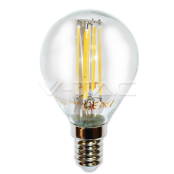 LAMPADINA LED V-Tac E14 4W=40W MINIGLOBO P45 FILAMENTO VT-1996