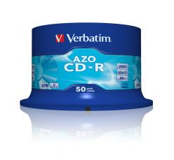 VERBATIM CD-R 52x Azo Crystal in Campana 50PZ 43343