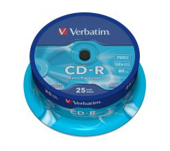 CD-R Verbatim 700MB 80 Min Extra Protection da 25 pz 43432