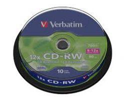 VERBATIM CD-RW 8x/12x in cake da 10 pezzi 43480