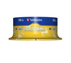 DVD+RW VERBATIM 4.7GB 120 MIN 4X CAMPANA 25PZ 43489