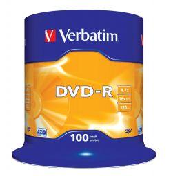 DVD-R VERBATIM 16X 4.7GB CAMPANA 100PZ 43549