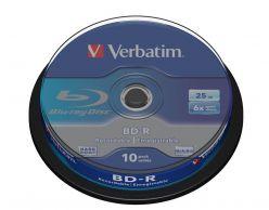 BLU RAY SL DATALIFE 25GB 6X CAMPANA 10PZ VERBATIM 43742