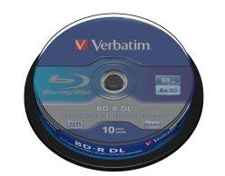 BLU RAY DUAL LAYER 50GB 6X CAMPANA 10PZ VERBATIM 43746