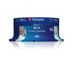 BD-R STAMPABILI SL DATALIFE 25GB 6X INKJET PRINTABLE CAMPANA 25PZ VERBATIM 43811