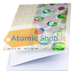 BLOCCO STENO BLOCK NOTES A4 QUADRETTI 5 mm