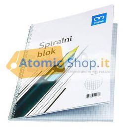 BLOCCO SPIRALATO BLOCK NOTES A4 QUADRETTI 5mm