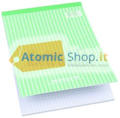 BLOCCO STENO BLOCK NOTES A5 QUADRETTI 5mm