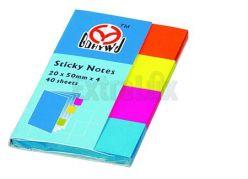 OEM Segnalibri Colorati STICKY NOTES 20x50mm 4X40