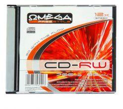 CD -RW OMEGA 700MB 12X in Slimcase