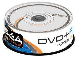 DVD+R Omega 4.7 GB 120 min 16x in Campana 25 Pezzi