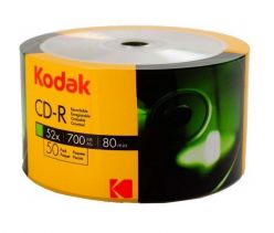 Kodak CD-R 700MB 80min 52x in cellofan da 50 Pz K1210150