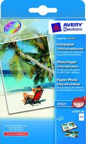 AVERY Zweckform Carta Fotografica Superior 10x15 230G Inkjet High Glossy Lucida 50 fogli C2497